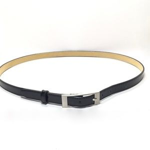 Accessories - Women's Black Patent Skinny Belt Size Extra Large